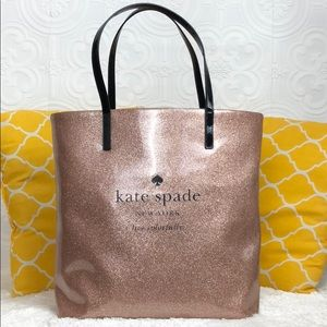 🌸OFFERS?🌸Kate Spade PatentLeather Rose Gold Tote